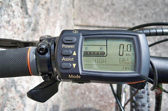KTM elektromos kerékpár kijelzője