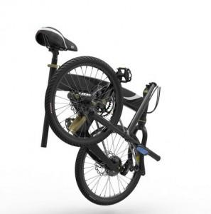 Volt elektromos kerékpár a kocsi csomagtartójába