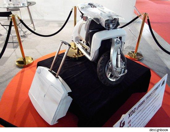 x02 elektromos robogó összecsukva